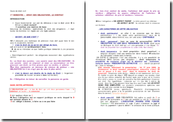 Cours de droit civil