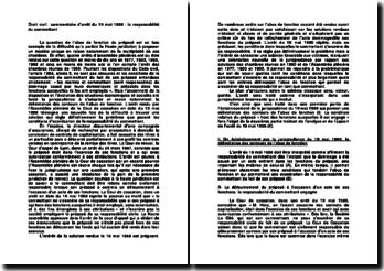 Droit civil : commentaire d'arrêt du 19 mai 1988 : la responsabilité du commettant