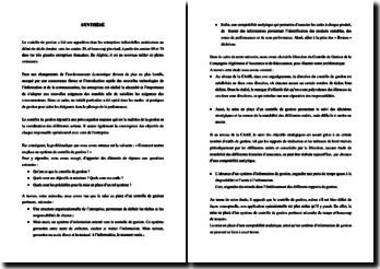 Comment mettre en place un système de contrôle de gestion ? Cas pratique, le contrôle de gestion au niveau de la CAAR - compagnie Algérienne des assurances et de réassurance