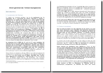 Droit général de l'Union Européenne: le système juridique, les règles de droit et le contentieux européen