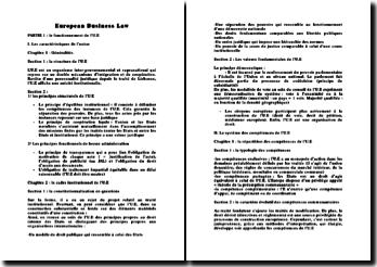 European Business Law