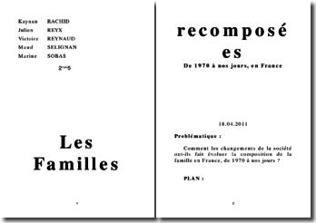 Les familles recomposées de 1970 à nos jours, en France