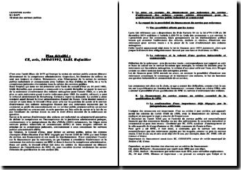 Avis du Conseil d'Etat, 10 avril 1992, SARL Hofmiller