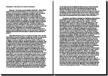 Trois discours sur la condition des Grands, Blaise Pascal