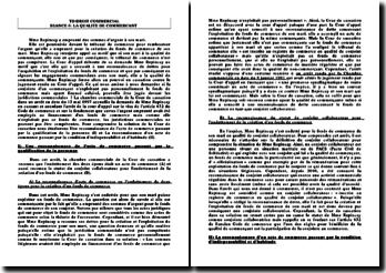 Commentaire d'arrêt, Cour de cassation, 13 mai 1997: la qualité de commerçant
