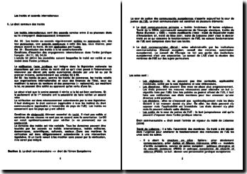 Les traités et accords internationaux