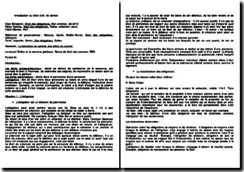 Introduction au droit civil : le contrat