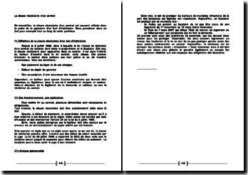 La clause résolutoire d'un contrat