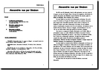 La vision de Strabon concernant Alexandrie