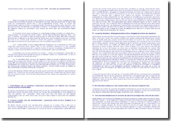 Commentaire d'arrêt : cour cassation 15 novembre 2005 : les vices du consentement