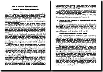 L'animal en droit civil et procédure civile