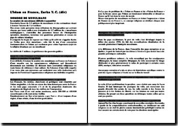 L'islam en France, Zarka Y. C.