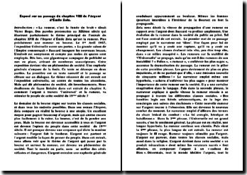 Exposé sur un passage du chapitre VIII de l'Argent d'Émile Zola