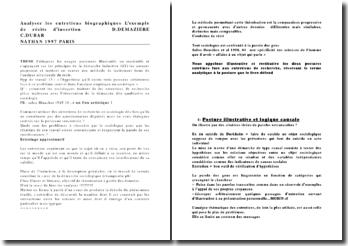 Analyser les entretiens biographiques: l'exemple de récits d'insertion, D.Demaziere, C.Dubar