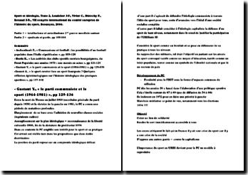 Sport et idéologie, Tome 2, Loudcher J-F., Vivier C., Dietschy P., Renaud J-N., VIIe congrès international du comité européen de l'histoire du sport, Besançon, 2004.