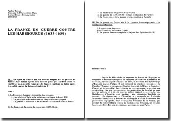 La France en guerre contre les Habsbourgs ( 1635-1659)