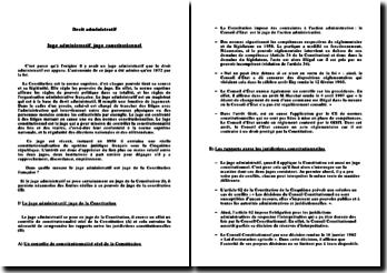 Dans quelle mesure le juge administratif est juge de la Constitution française ?