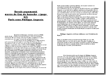 Philippe Auguste a-t-il une influence sur l'évolution de Paris ?
