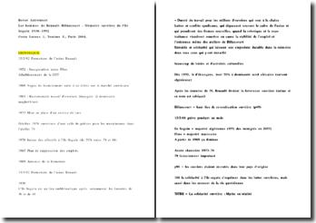 Fiche de lecture: Les hommes de Renault-Billancourt - Mémoire ouvrière de l'île Seguin 1930-1992, Emile Temime , Jacqueline Costa-Lascoux
