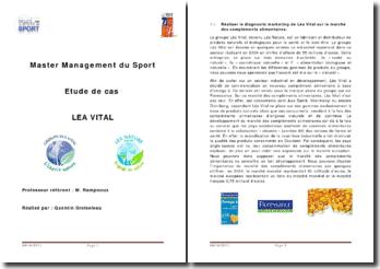 Le marché des compléments alimentaires: Léa Vital