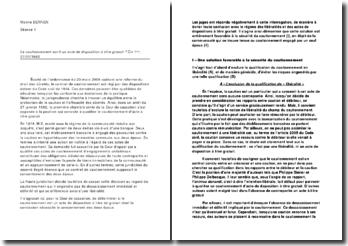 Le cautionnement est-il un acte de disposition à titre gratuit ? Civ 1ère, 27/01/1982