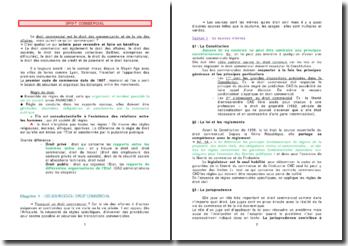 Droit commercial: introduction, les commercants et actes de commerce