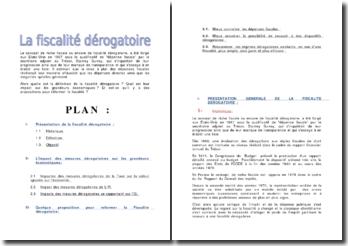 La fiscalité dérogatoire (Maroc)