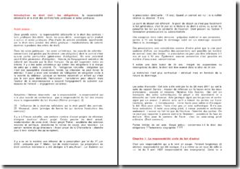 Introduction au droit civil : les obligations, la responsabilité délictuelle et le droit des contrats/faits juridiques et actes juridiques