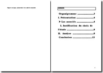 Rapport De Stage Présentation Dun Cabinet Comptable