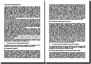 Lettre d'Alcuin à Charlemagne (799)