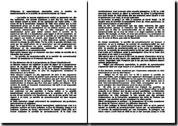 Différences et ressemblances essentielles entre le contrôle de constitutionnalité et le contrôle de conventionnaliste en France