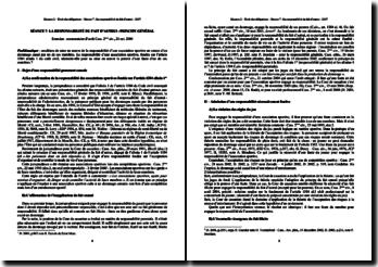 Cass. 2ème civ. 21 octobre 2004: la responsabilité du fait d'autrui