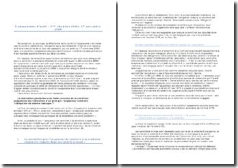 Commentaire d'arrêt : 3ème chambre civile, 17 novembre 2009