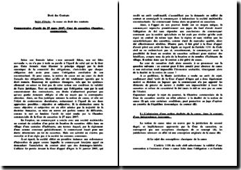 Commentaire d'arrêt du 27 mars 2007, Cour de cassation Chambre commerciale