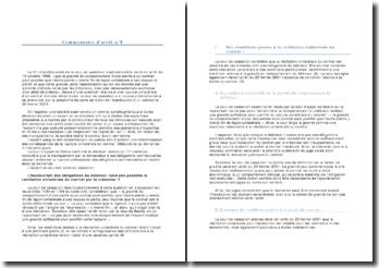 Commentaire d'arrêt - Cour de Cassation, Chambre civile, 20 février 2001: la résiliation unilatérale