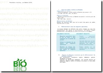 Présentation marketing : cas Biobébé (2005)