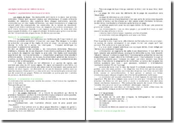 Les règles techniques de l'édition de texte