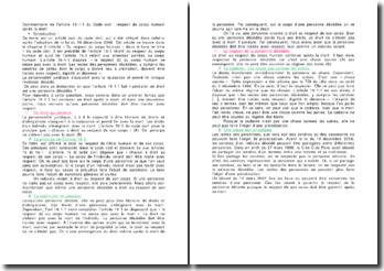 Commentaire de l'article 16-1-1 du Code civil : respect du corps humain après la mort