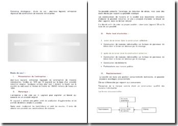 Marketing stratégique : étude de cas : Jean-louis legrand, entreprise régionale de construction de maisons individuelles