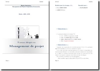Management de projet et ingénierie d'innovation