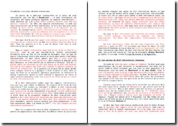 Introduction à la notion de droit international