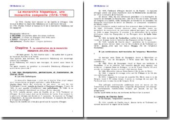 La constitution de la monarchie espagnole: une monarchie composite (fin XVe-1580)