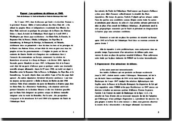Les systèmes de défense en 1945: Traité de Dunkerque, Traité de Bruxelles et Traité de l'Atlantique Nord