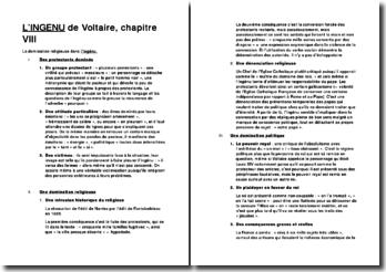 L'Ingénu, Voltaire, chapitre VIII: la domination religieuse