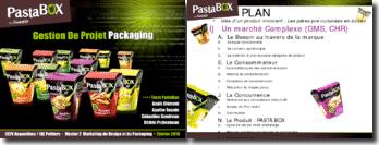 Marketing du design et du packaging: les pâtes pré-cuisinées en boîtes