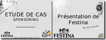 Le sponsoring - La stratégie du groupe Festina et le Tour de France