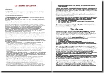 Les contrats spéciaux