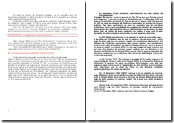 Le droit administratif : sources, institutions, actions et actes