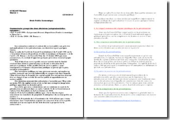 Conseil constitutionnel, 9 avril 1996 et Conseil d'Etat, 11 février 2004 : la privatisation d'une entreprise publique