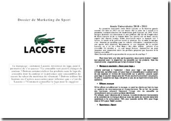 Le marquage : comment Lacoste, inventeur du logo, peut-il permettre de s'en passer ?